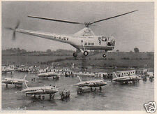 SIKORSKY R - 5 * G - AJOV * VICKERS WIKING * BEA * orig. Sammelbild * 1952