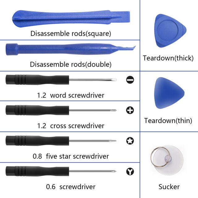 9-In-1 Screwdrivers Set Disassembling Repair Opening Tools Kit for iPhone 7