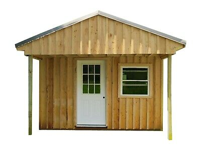 Cabin Tiny House Plans DIY Modern Outhouse 12x20' Guest ...