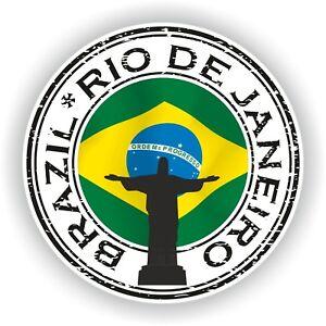 Seal-Sticker-of-Brazil-Rio-De-Janeiro-Christ-Stamp-Bumper-Roundel-Laptop-Car
