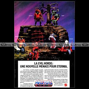 """Mattel MASTERS OF THE UNIVERSE MAITRES DE L'UNIVERS Figurines 1985 Pub Ad #A816 - France - État : Occasion : Objet ayant été utilisé. Consulter la description du vendeur pour avoir plus de détails sur les éventuelles imperfections. Commentaires du vendeur : """"Trés bon état"""" - France"""