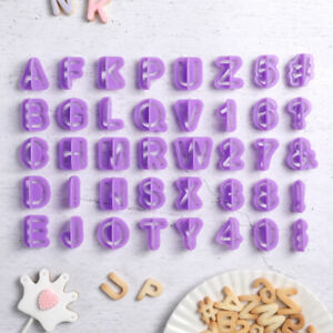 40pcs Icing Cutter Mold Mould Alphabet Number Letter ...