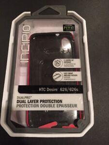 Caso-para-HTC-Desire-626-Piel-Carcasa-Rigida-A-prueba-de-impactos-Hibrido-de-Silicona-Cubierta-Roja