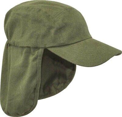 Mens Legionnaires hat Gents UV protection cap long neck flap Summer hiking Blue