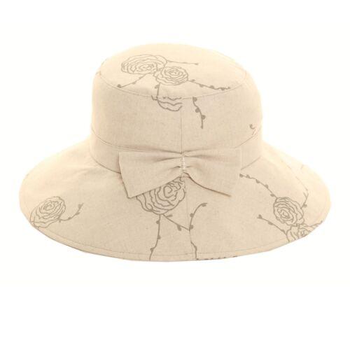 Ivory Ladies Womens Wide Brim Linen Foldable Shapeable Summer Sun Hat A249