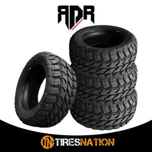 (4) New RDR Red Dirt Road RD-6 33X12.50R22LT 109Q 10PR All Terrain MT Mud Tires