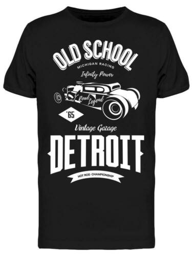 Image by Shutterstock Old School Detroit Tee Men/'s
