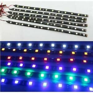 2-6pcs-Waterproof-30cm-15SMD-3528-LED-Car-Truck-Motors-Flexible-Strip-Light