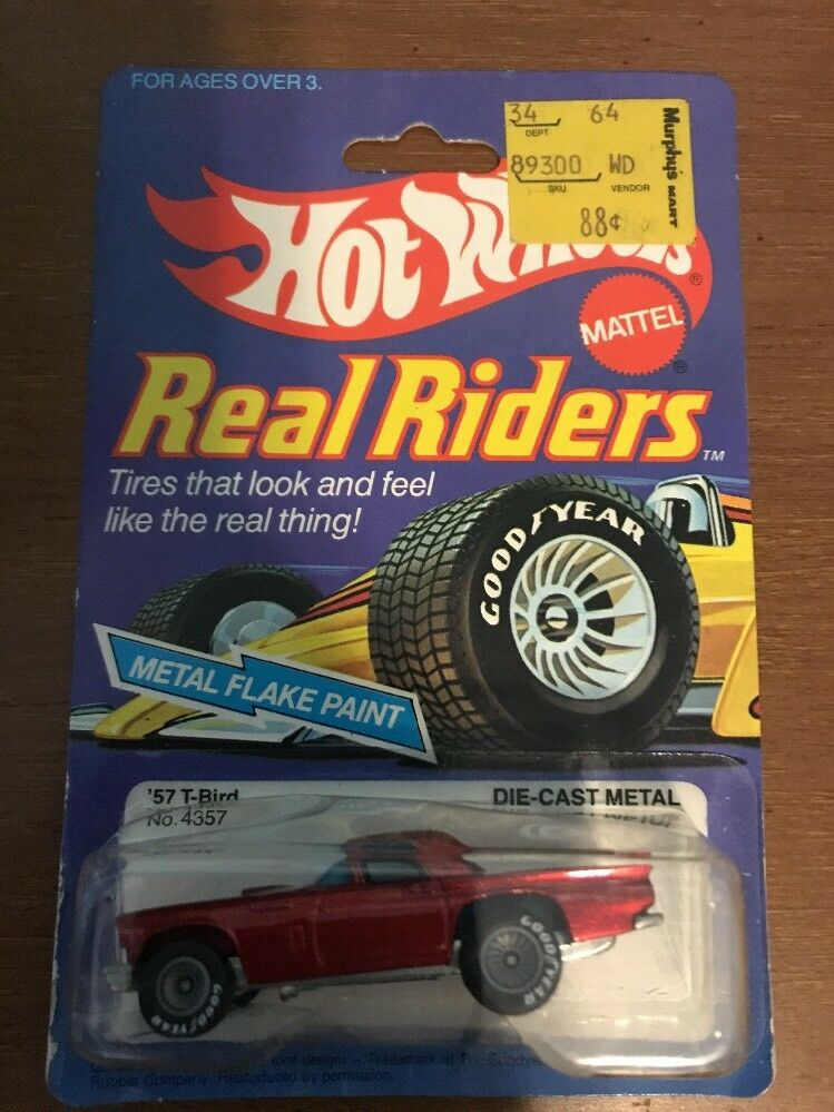Hot Wheels Real Riders '57 T-Bird  Metallic Red in blister
