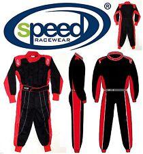 Schicker Speed Kinderoverall - Exclusives Design in schwarz/rot Größe 104