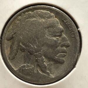 USA-1918-S-Buffalo-Nickel-5-Cent-San-Francisco-Gute-Erhaltung-Selten-11113