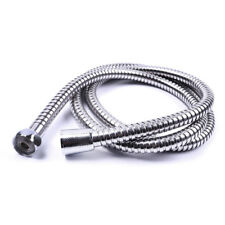 STAINLESS STEEL 2.5M CHROME FLEXIBLE BATHROOM BATH SHOWER HEAD HOSE PIPE WASHERS