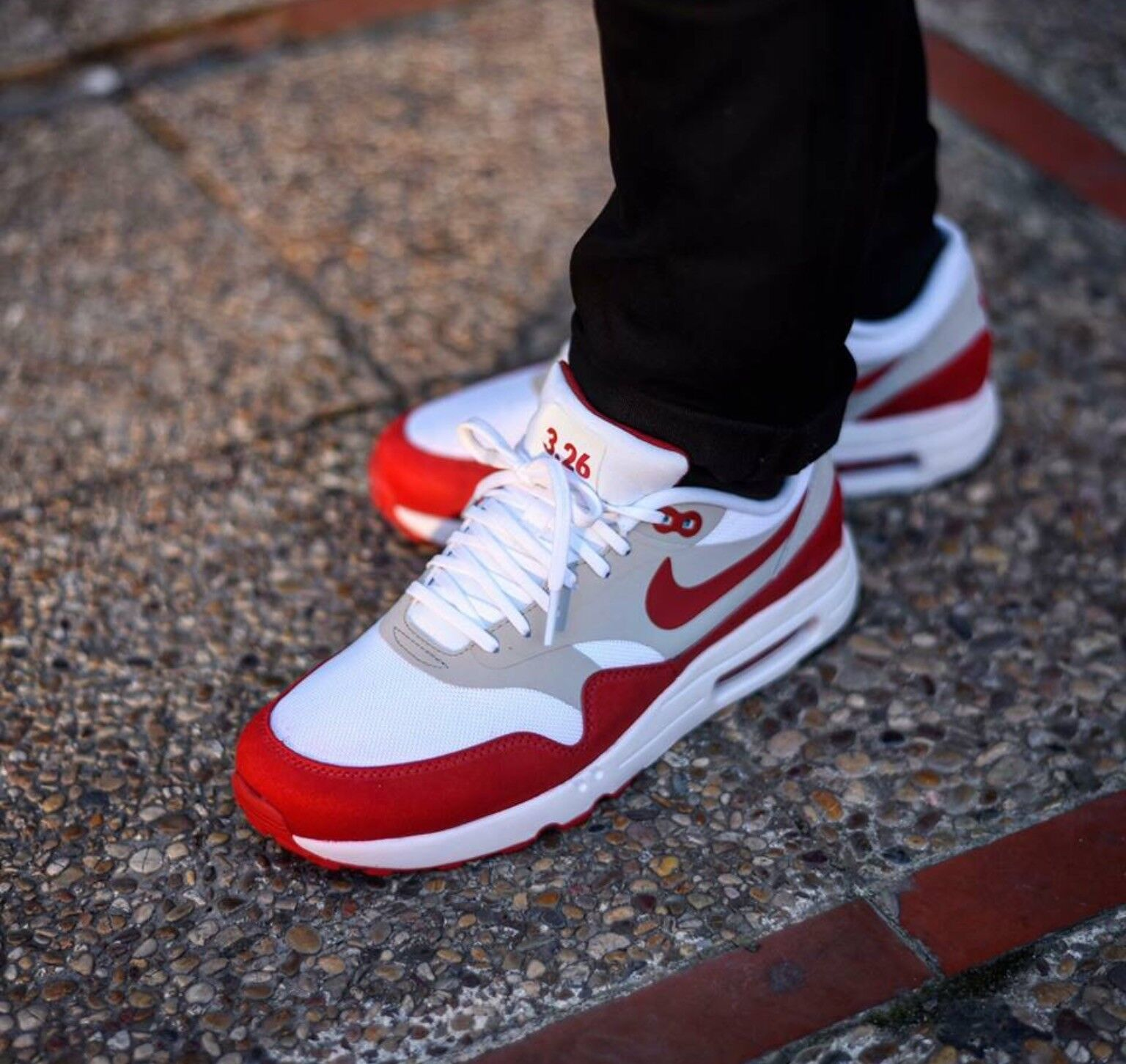 femmes  NIKE AIR MAX 1 ULTRA 2.0 LE 3.26 TRAINERS4.5 blanc /RED115