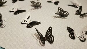 Image Is Loading 24x Wedding Birthday Table Decorations 3D Butterflies White
