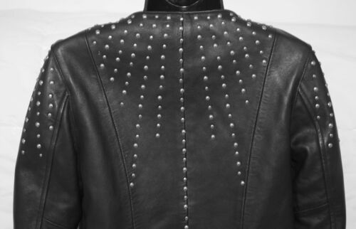 Black Studded Doma Size M Leather Jacket w14nPnzqY