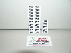 25 SNACK VENDING MACHINE $2.25 Free Ship! $2.20 PRICE LABELS