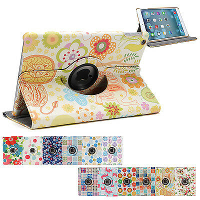 360 Rotating Flower Smart Cover Case for Apple iPad Air iPad 5