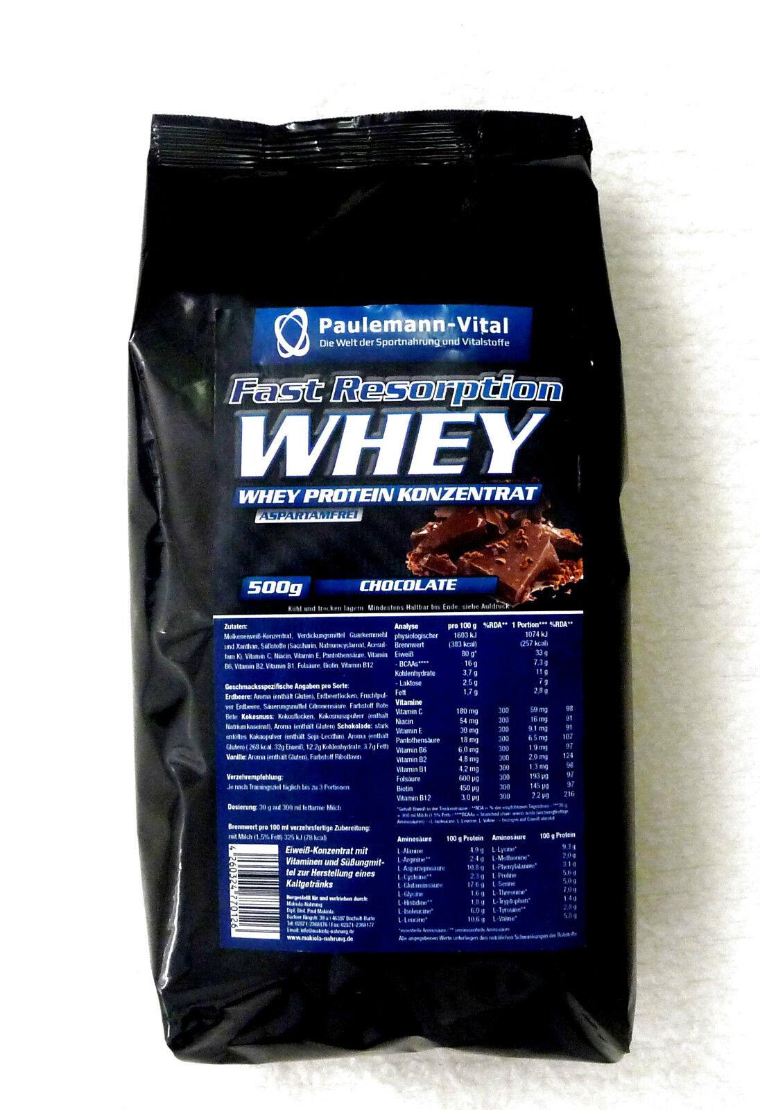 Fast Resorption Whey Paulemann-Vital 1500g dreifache Menge Eur 27,80/kg