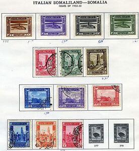 ITALY COLONY SOMALIA SCOTT# 138-50 MINT HINGED & USED AS SHOWN