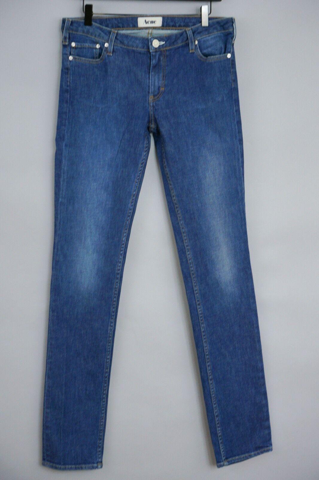 Donna Acne Jeans Kex Blu Mare Slim W32 L34 JFA670