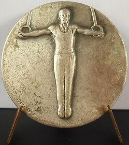 Medal-Sport-Olympic-Olympic-Gymnastics-Rings-Rings-Sc-Drago-c1950-Medal