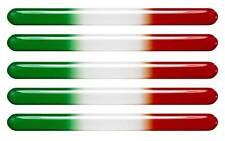 5x 3D Kfz-Aufkleber (gedomt) Flagge Italien (VR70)