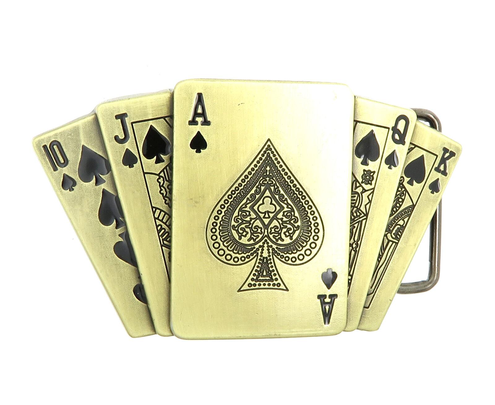Skull Poker Lighter Belt Buckle Western White Cowboy HIGH QUALITY