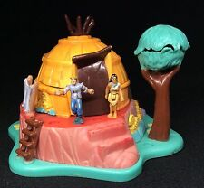 Polly Pocket Mini 💚  1995 - Disney Pocahontas Powhatan Home - Bluebird