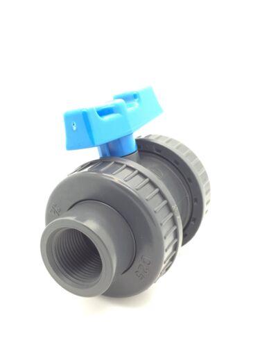 Roscado /& Disolvente Soldar Válvulas de bola de PVC Doble Unión Imperial /& Métrico