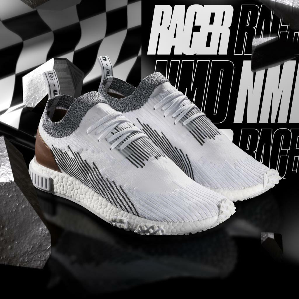 New Adidas NMD_Racer Running shoes shoes shoes Monaco Whitetaker Car Club White-Black AC8233 0d7ff5