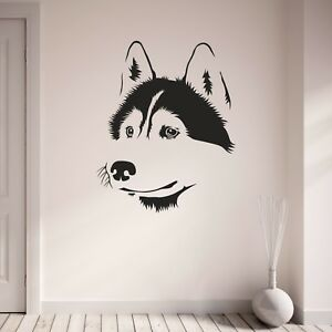 Dog Wall Art Design Siberian Husky 2 Home Sticker Vinyl Decal Nw0kX8PnO