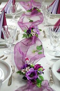 Komplette Tischdeko In Violett Lila Fur Hochzeit Geburtstag