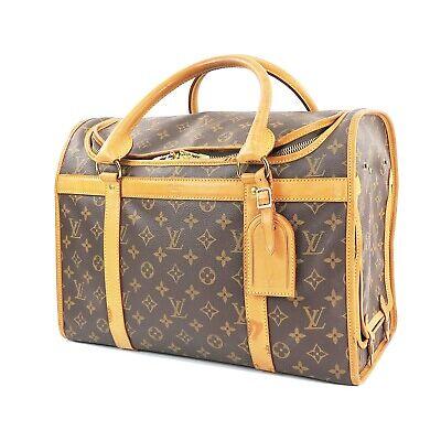 Authentic LOUIS VUITTON Sac Chien Dog Pet Carrier Bag Travel Case #32043