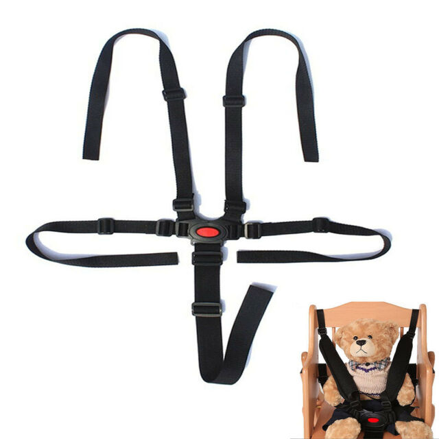 5Point Safety Baby Kids Harness Stroller High Chair Pram Car Belt Strap