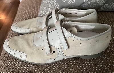 PRADA Cream Grey Genuine Leather/suede
