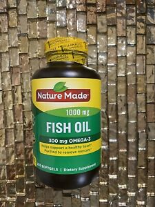 Nature Made Fish Oil 1000 mg 250 Softgels Yeast-Free ...