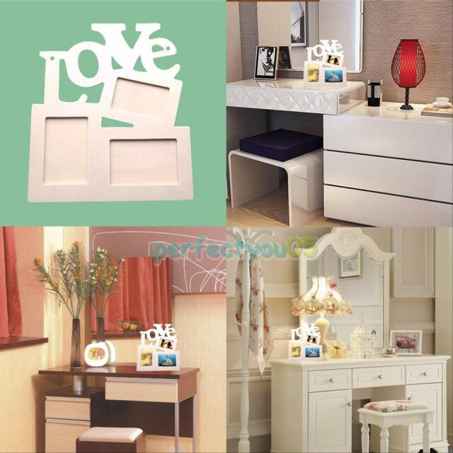 2015 New Durable Hollow Love Wooden Photo Picture Frame Rahmen DIY Home Decor
