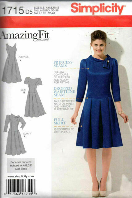 SIMPLICITY SEWING PATTERN DRESS SKIRT 2 LENGTHS EACH SIZE 4-12 or 12-20  # 2305
