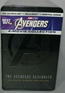 Avengers-4-Movie-Collection-Best-Buy-Steel-4K-Ultra-H-Blu-ray-Digital-New