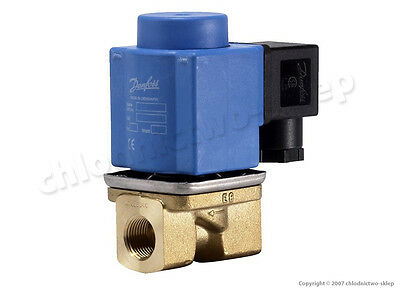 "Solenoid valve Danfoss EV251B 10B, NC, 3/8"", 24V 230V AC/DC, +coil&connect Water"
