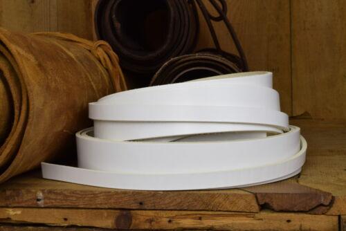 3.5mm spessore COW Hide CINTURINO IN PELLE VARIE LARGHEZZA Colore bianco lungo 127cm circa