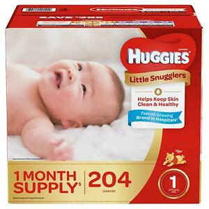 Huggies-Little-Snugglers-Diapers-Size-1-204-Ct