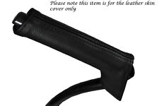 BLACK STITCHING FITS VOLVO C30 2006-2013 LEATHER HANDBRAKE HANDLE COVER ONLY