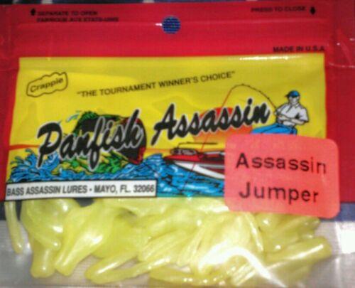 "Panfish Assassins Assassin Jumper 2/"" Chartreuse 20 ct Bluegill Crappie Fishing"