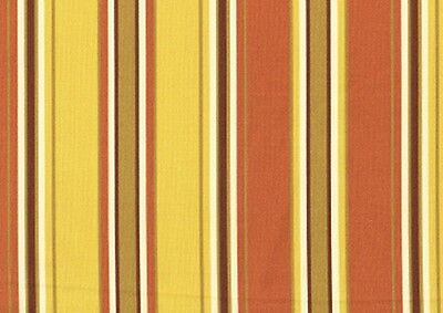Mill Creek Fabric Coral Yellow Tan Striped Drapery Upholstery Outdoor