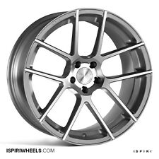 "19"" Staggered ISPIRI ISR6 Wheels - Matte Silver - Audi / VW / Mercedes - 5x112"