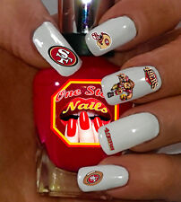 56pcs San Francisco 49ers Nail Art Decals Stickers Transfers Nfl