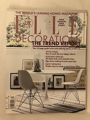 Elle Decoration Uk Interior Design Magazine Sept 12 Office Kitchen