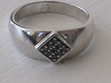 STERLING SILVER and MARCASITE  RING SIZE 9