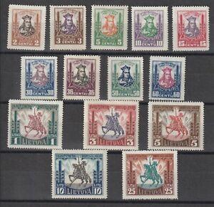 Lithuania / Litauen 1930 Mi # 293/306 vf MNH